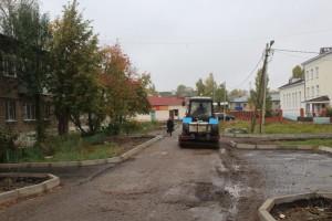 ул.Комсомольская. подготовка под асфальт