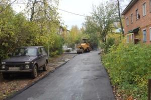 Ремонт проезжой части возле дома № 25, ул. Ленина